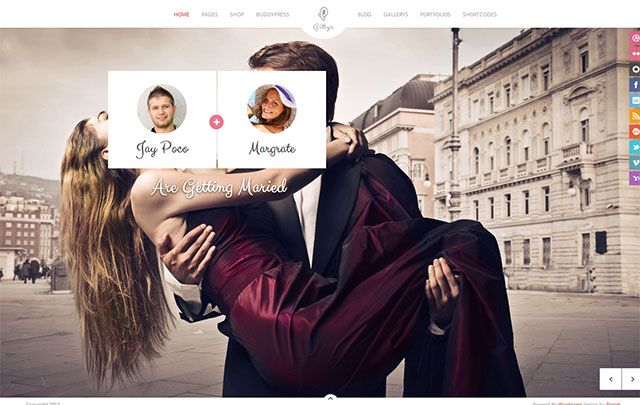 Gittys Wedding Wordpress Theme Wedding Weddingwebsite