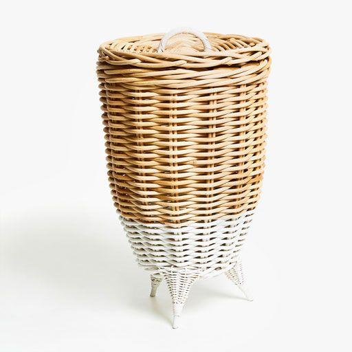 African Baskets: Image Du Produit PANIER TRESSÉ PIED CONTRASTANT