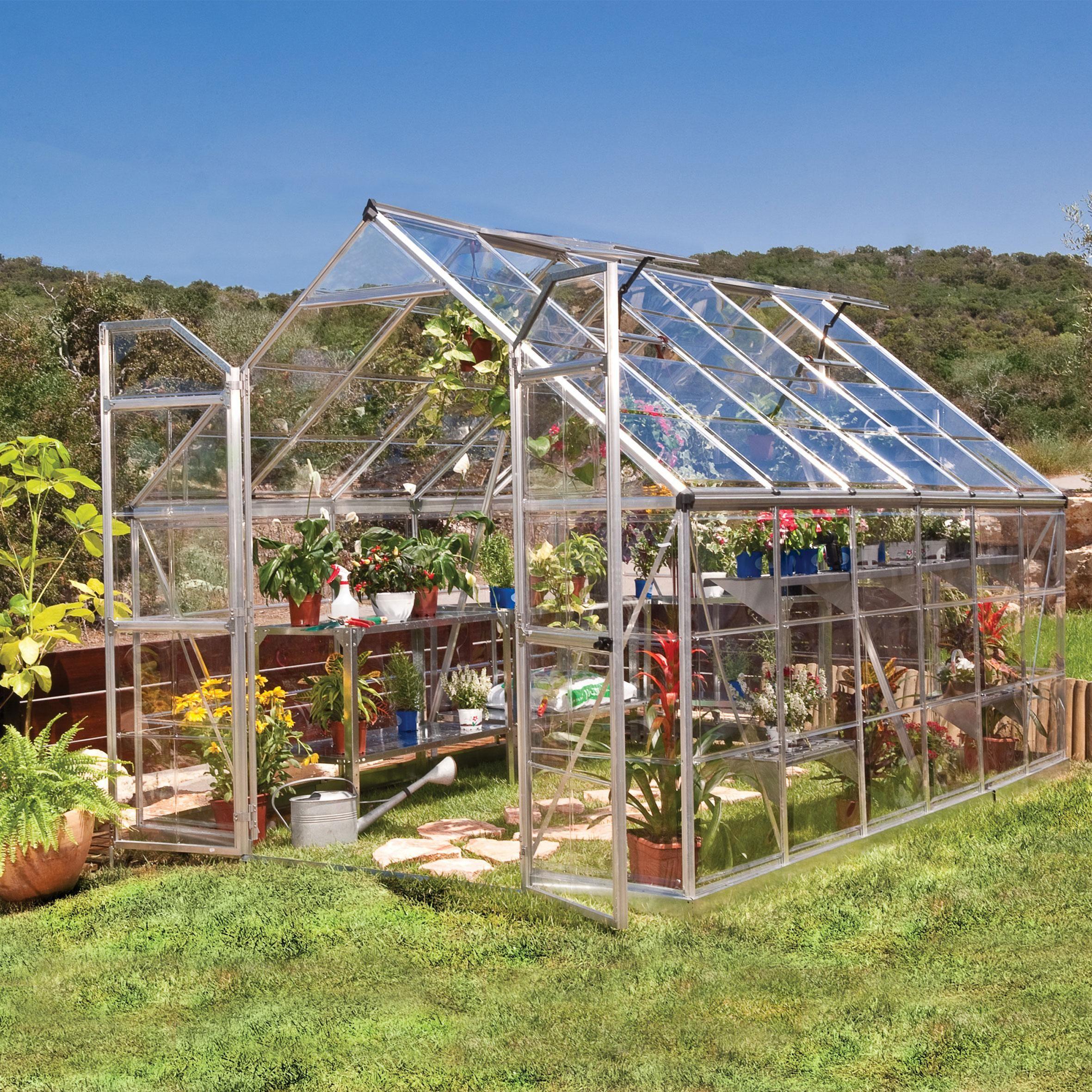 Serre De Jardin Octave 8 9 M Aluminium Et Polycarbonate Palram Serre Jardin Maison Verte Et Serre De Jardin Polycarbonate
