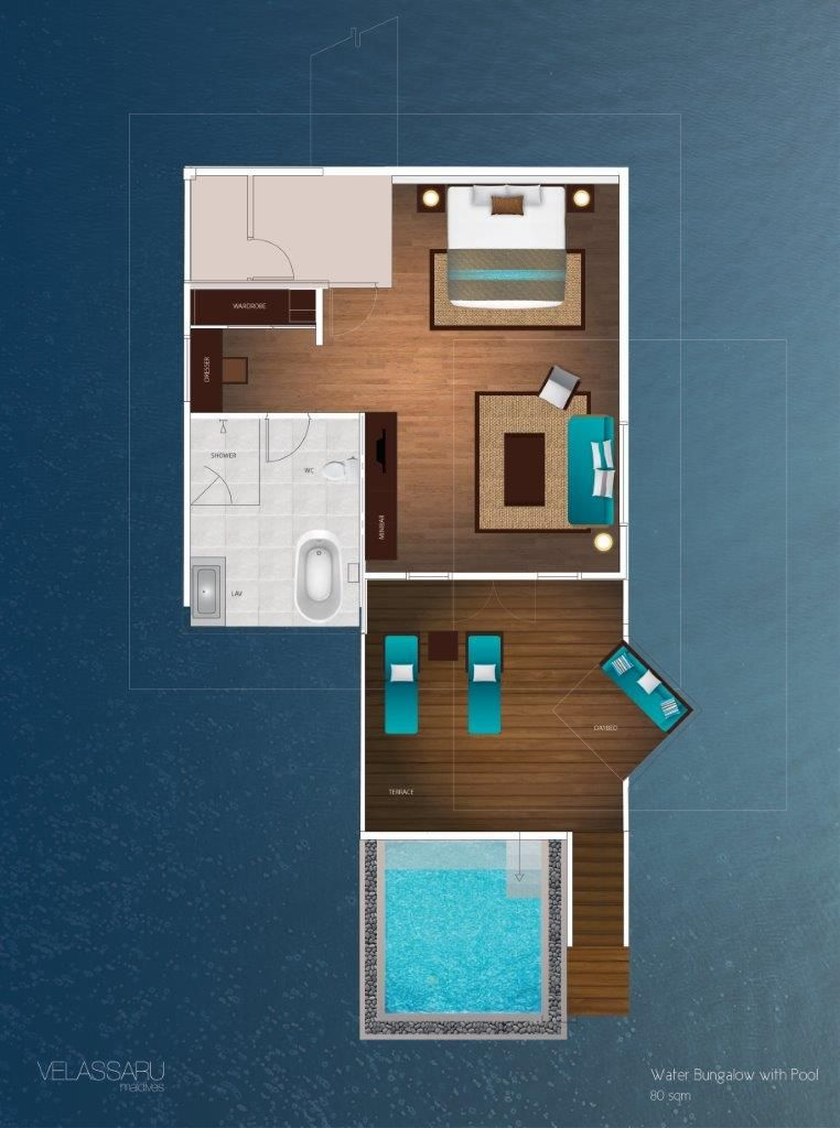 Overwater Bungalow Floor Plan Google Search Home