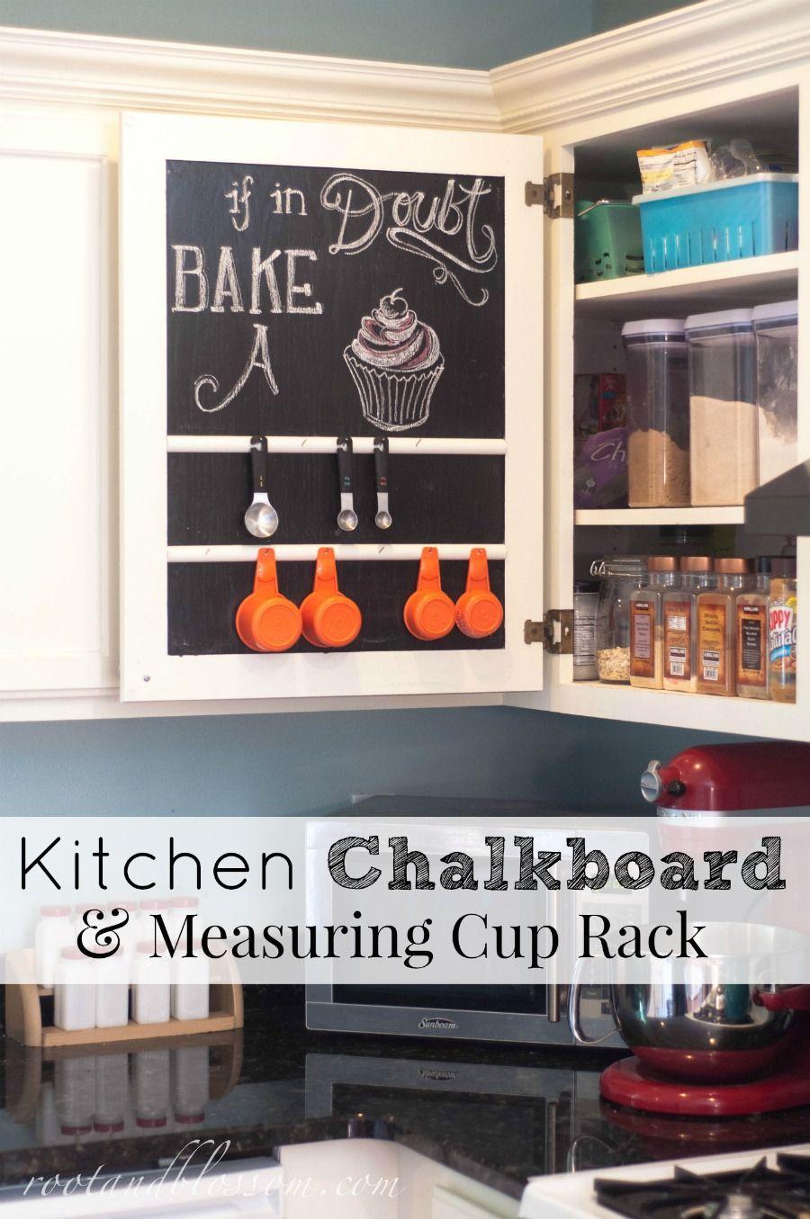Rootandblossom Kitchen Chalkboard Amp Measuring Cup Rack