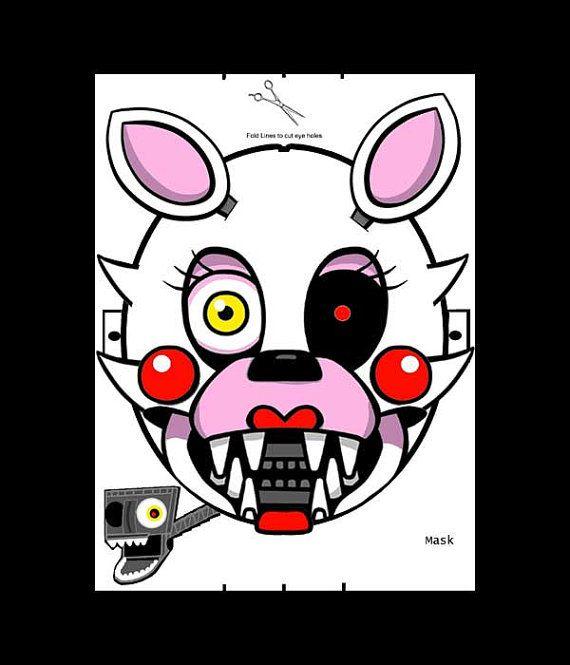 Mask Five Nights at Freddy\'s FNAF Mangle Endo by RockitfishRay ...