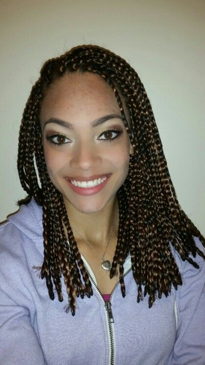 box braids short mixed colors
