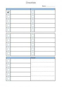 Checkliste Vorlage Checklisten Vorlage Inhaltsverzeichnis Zum Ausdrucken Vorlagen