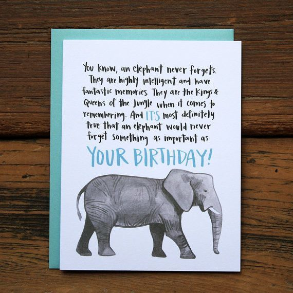 Batter Up Elephant Birthday Card