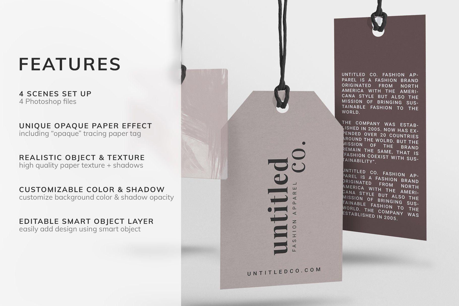 Mode Fashion Hang Tag Mock Up Hang Tags Branding Template