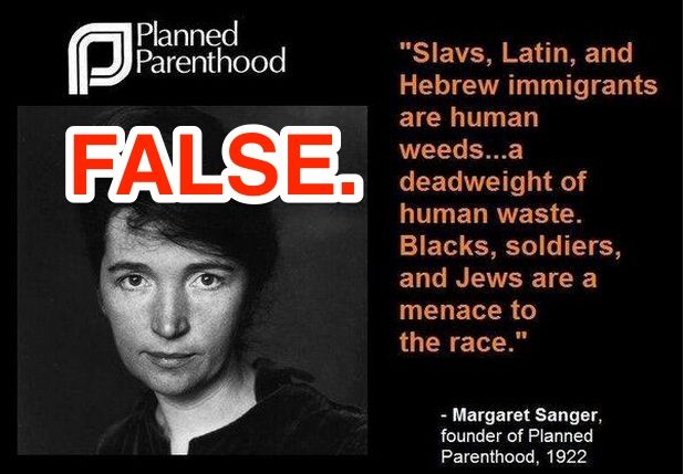 Margaret Sanger did not call people human weeds. #snopes #margaretsanger #sanger #plannedparenthood #pp