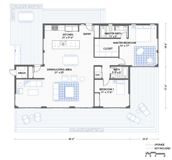 Blu Homes Balance Floorplan 2 Bedroom Container House Plans