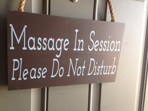 Items similar to Massage In Session Sign, treatment in progress wood