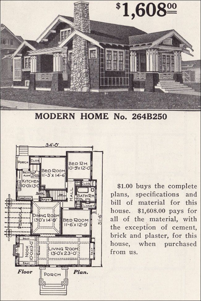 Classic Craftsman Style Bungalow   Sears Ashmore   Modern Home No  264B250    Inglenook and. Classic Craftsman Style Bungalow   Sears Ashmore   Modern Home No