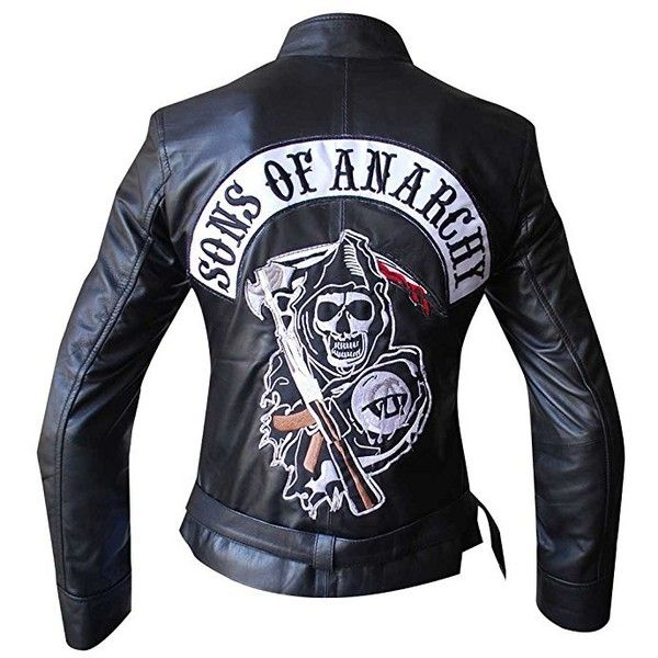 Sons Of Anarchy Reaper Leather Womens Jacket 145 Liked On Polyvore Featuring Out Men S Leather Jacket Celebrities Leather Jacket Leather Motorcycle Jacket