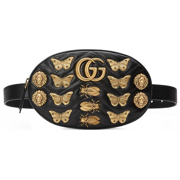 Gucci Gg Marmont Animal Studs Leather Belt Bag featuring polyvore ... 0506dc1e056
