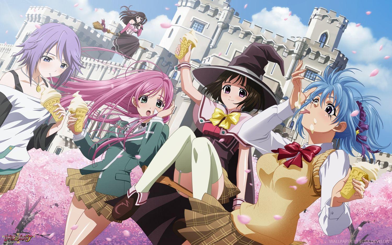 Anime De Rosario Vampire akashiya moka kurono kurumu rosario+vampire seifuku sendo