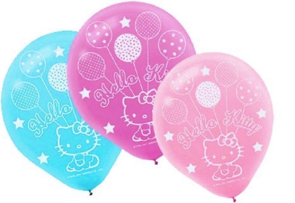 Hello Kitty Balloon Dreams Latex Balloons 6ct Party Decorations Favors #HelloKittyBalloonDreams #ANY