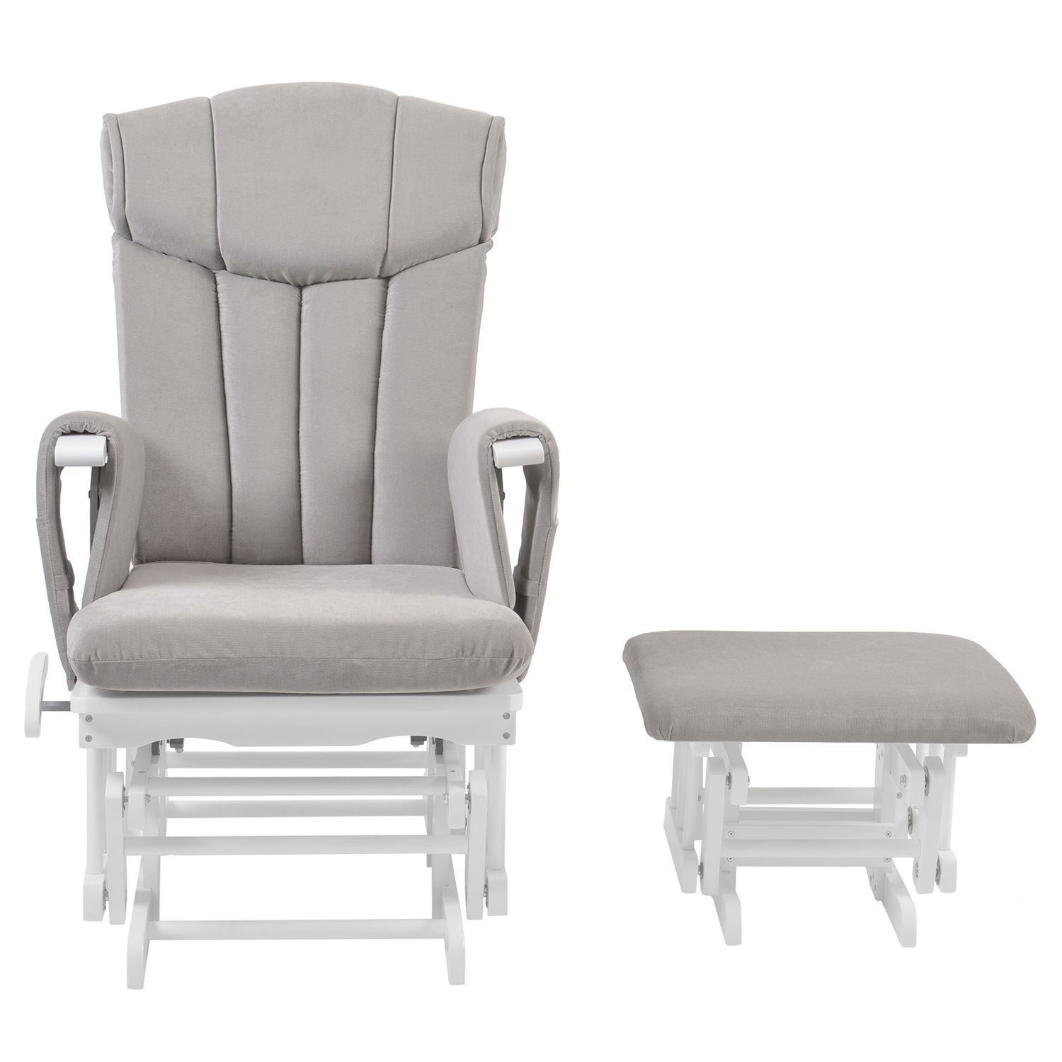 Groovy Kub Chatsworth Glider Nursing Chair And Foot Stool Grey Ncnpc Chair Design For Home Ncnpcorg