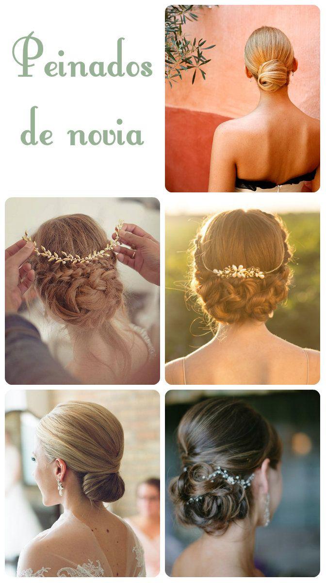 Peinados de novia con el cabello recogido novias con - Recogido de novia ...