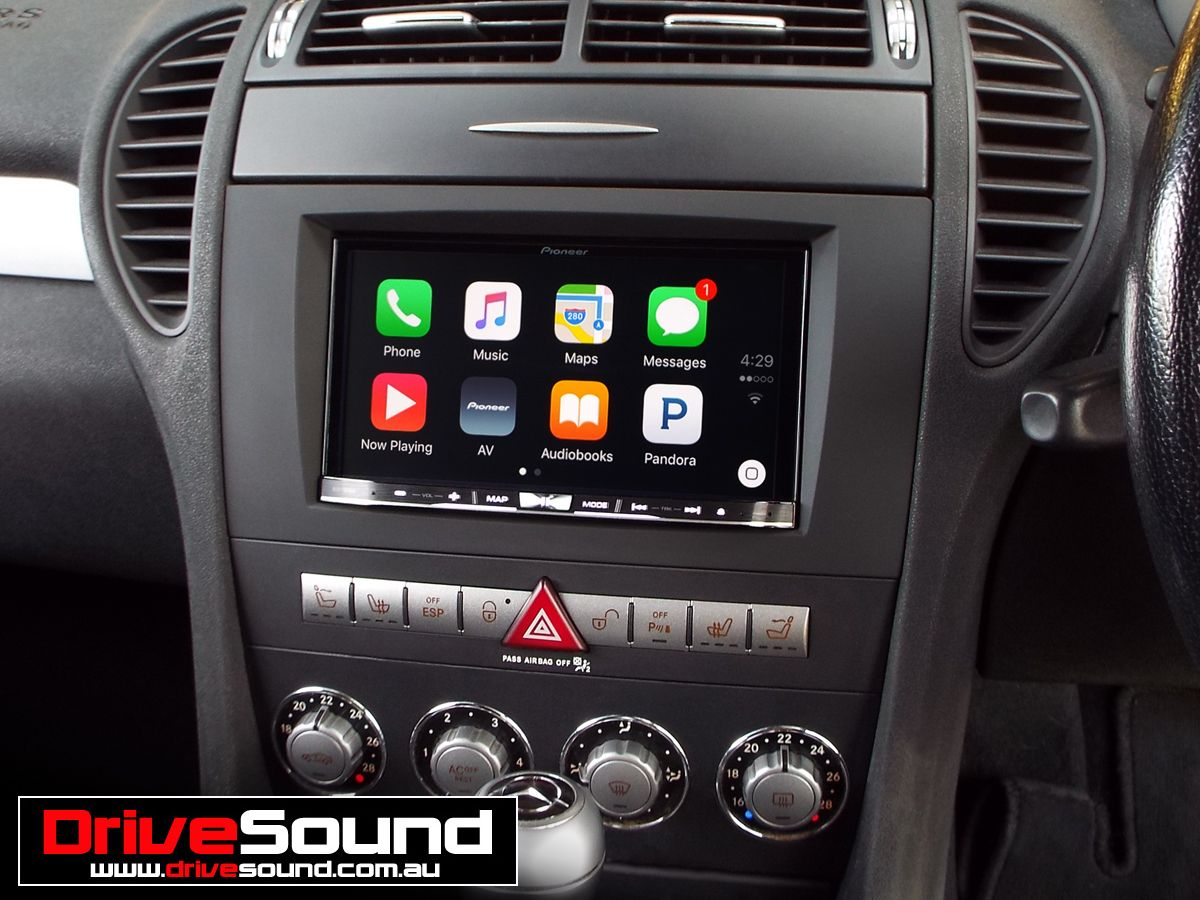 Mercedes Benz SLK350 with Apple CarPlay installed by
