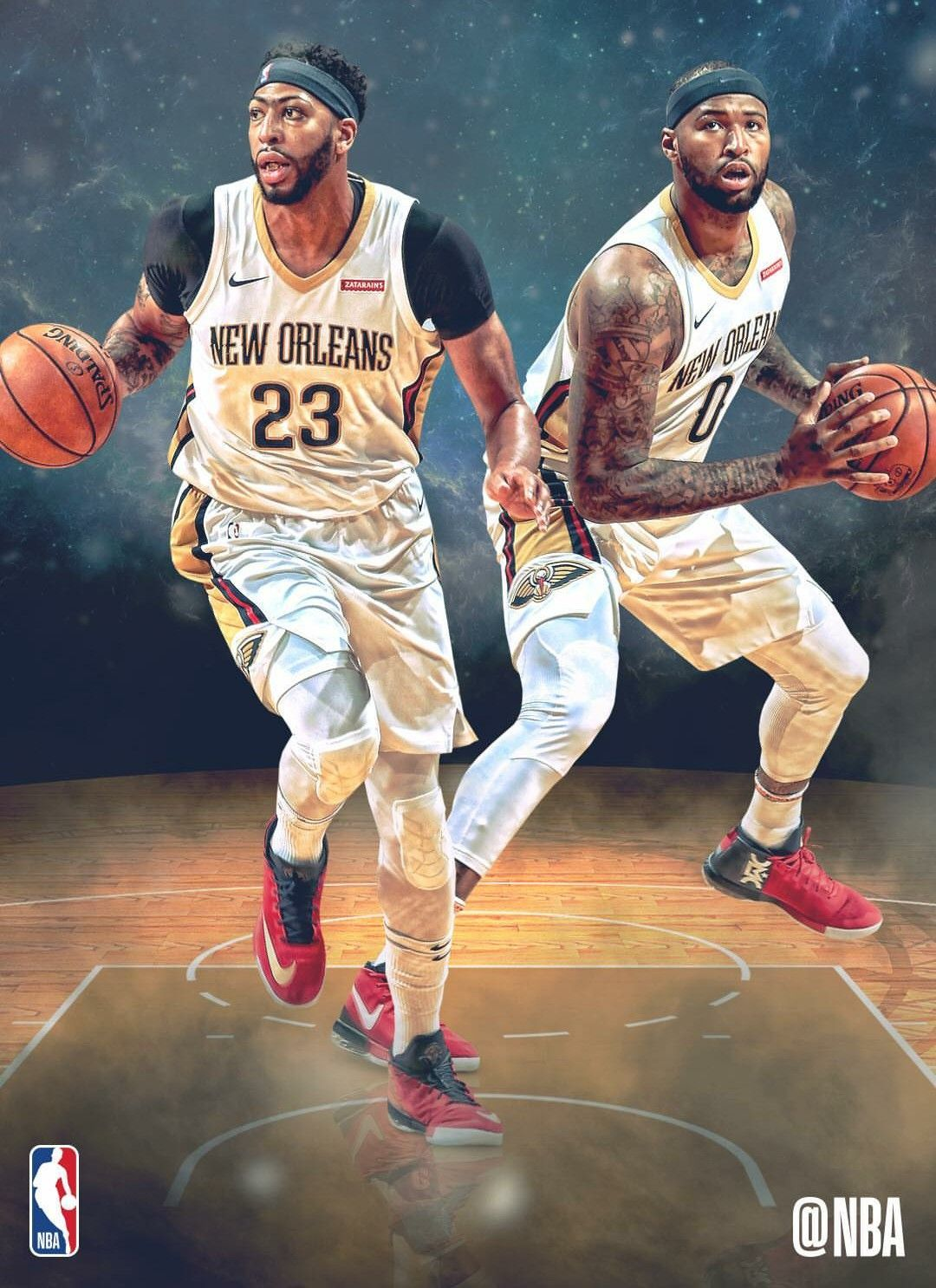 Anthony Davis and Demarcus Boogie Cousins New Orleans
