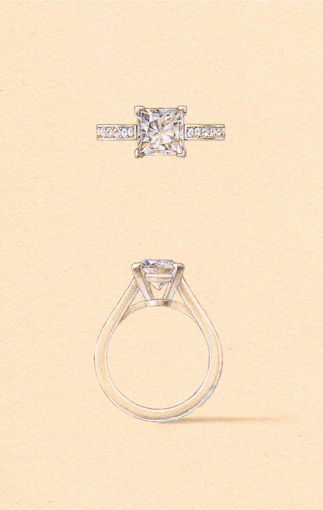 The Amore Setting Naveya Sloane Engagement Ring Made To Order In