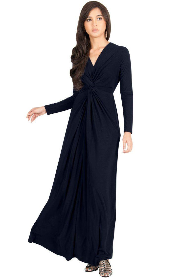 Audrey flowy long sleeve maxi dress gown casual modest
