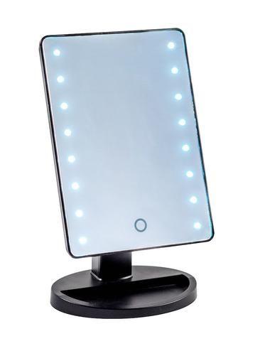 Original Beauty Box Black Mini Light Up Led Vanity Mirror