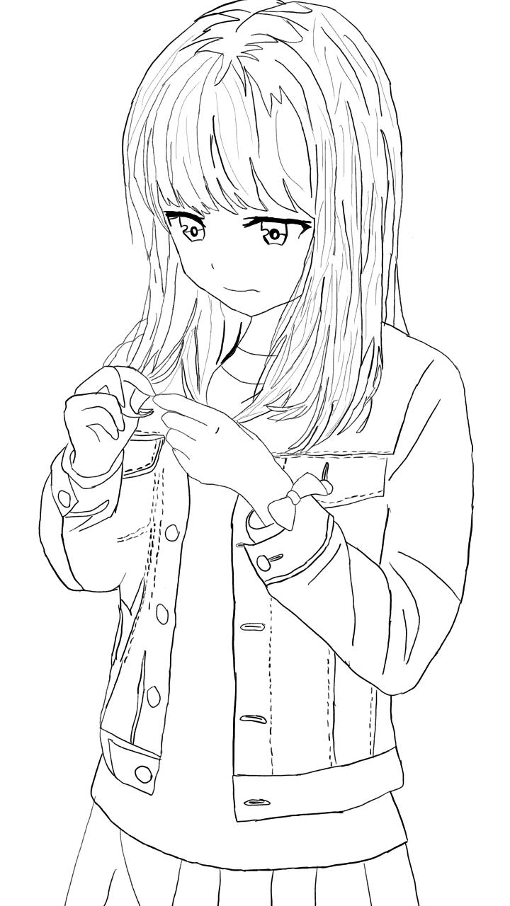 Shy Girl Drawing Made By Skye K Yt Wolf Sketch Shy Girls Sketches