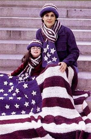 American Flag Afghan Pinterest Afghans Crochet Afghan Patterns