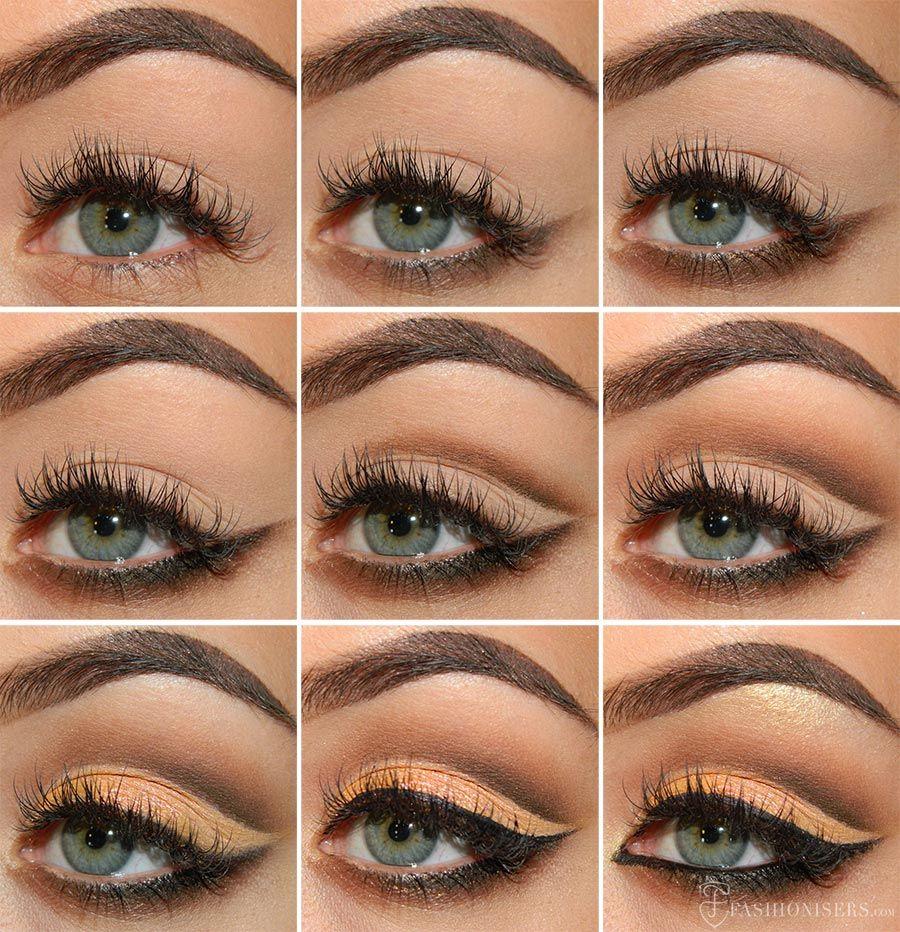 Mellow & Brown Cut Crease Eye Makeup Tutorial
