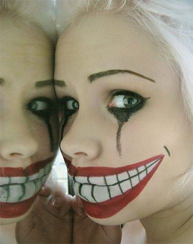 20 Most Terrifying and Simple Makeup for Halloween Halloween - halloween makeup ideas easy