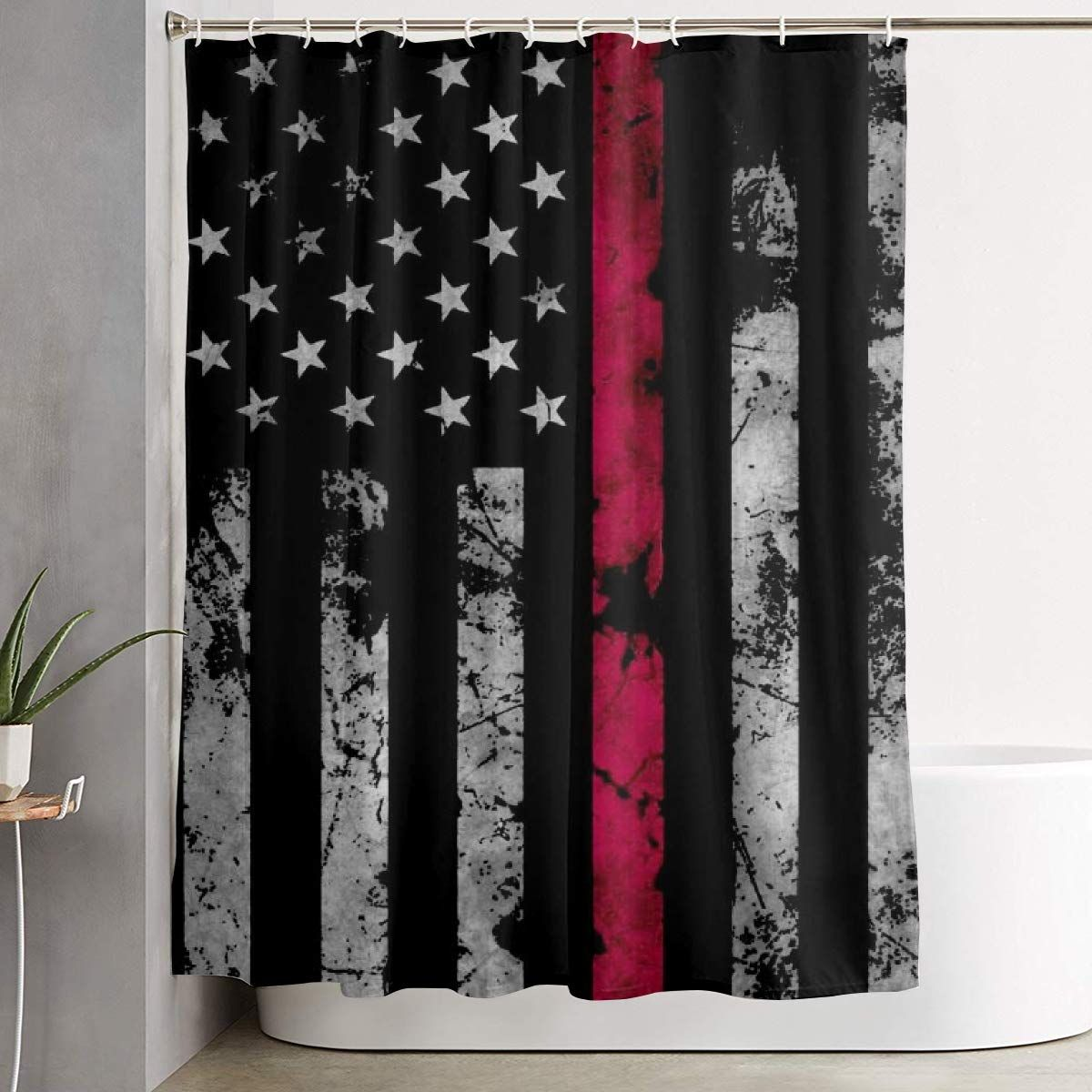 NEW BEST American-Tour-Flag Waterproof Shower Curtain Exclusive Design