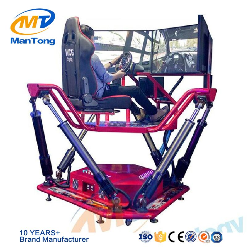 Mantong arcade racing car driving simulator 6 DOF dynamic