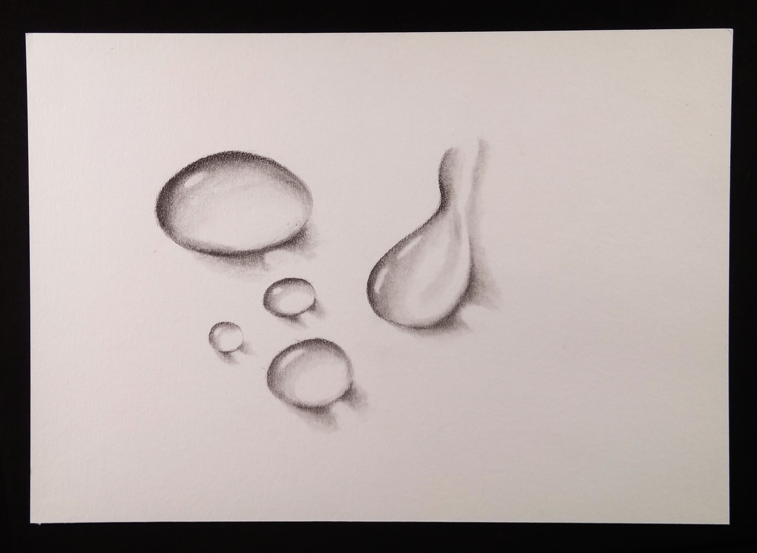 Hi all this pencil sketch tutorial explains how to draw water drops