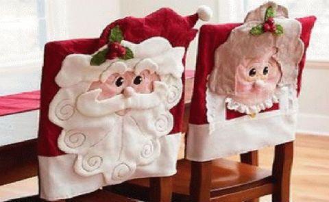 Como hacer sillas vestidas para Navidad Manualidades Paso a Paso - manualidades para navidad