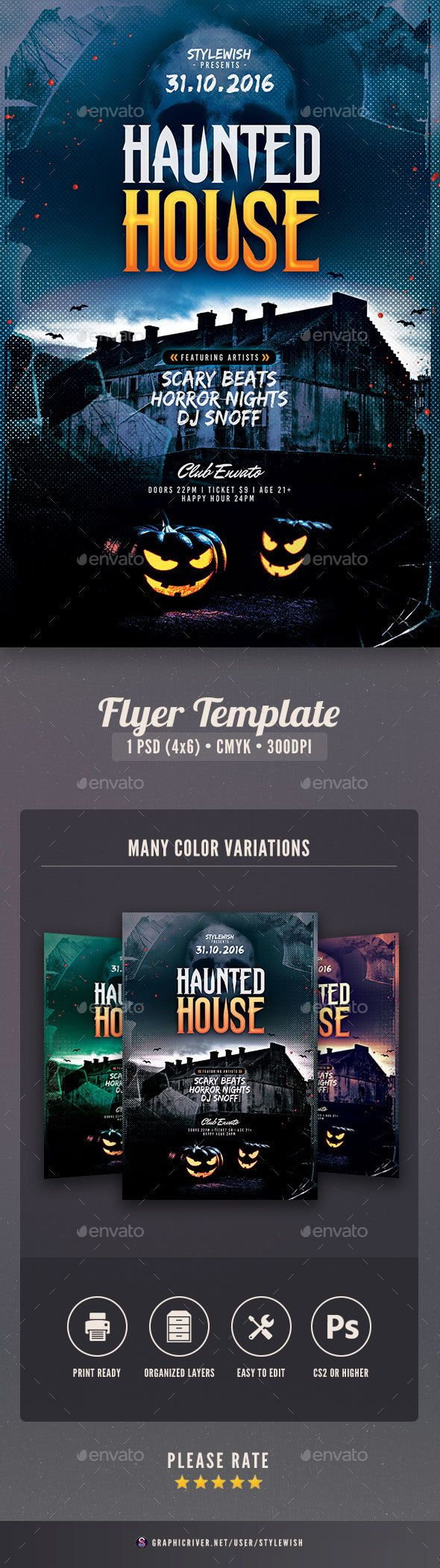 Haunted House Flyer | Haunted houses, Event flyers and Flyer template
