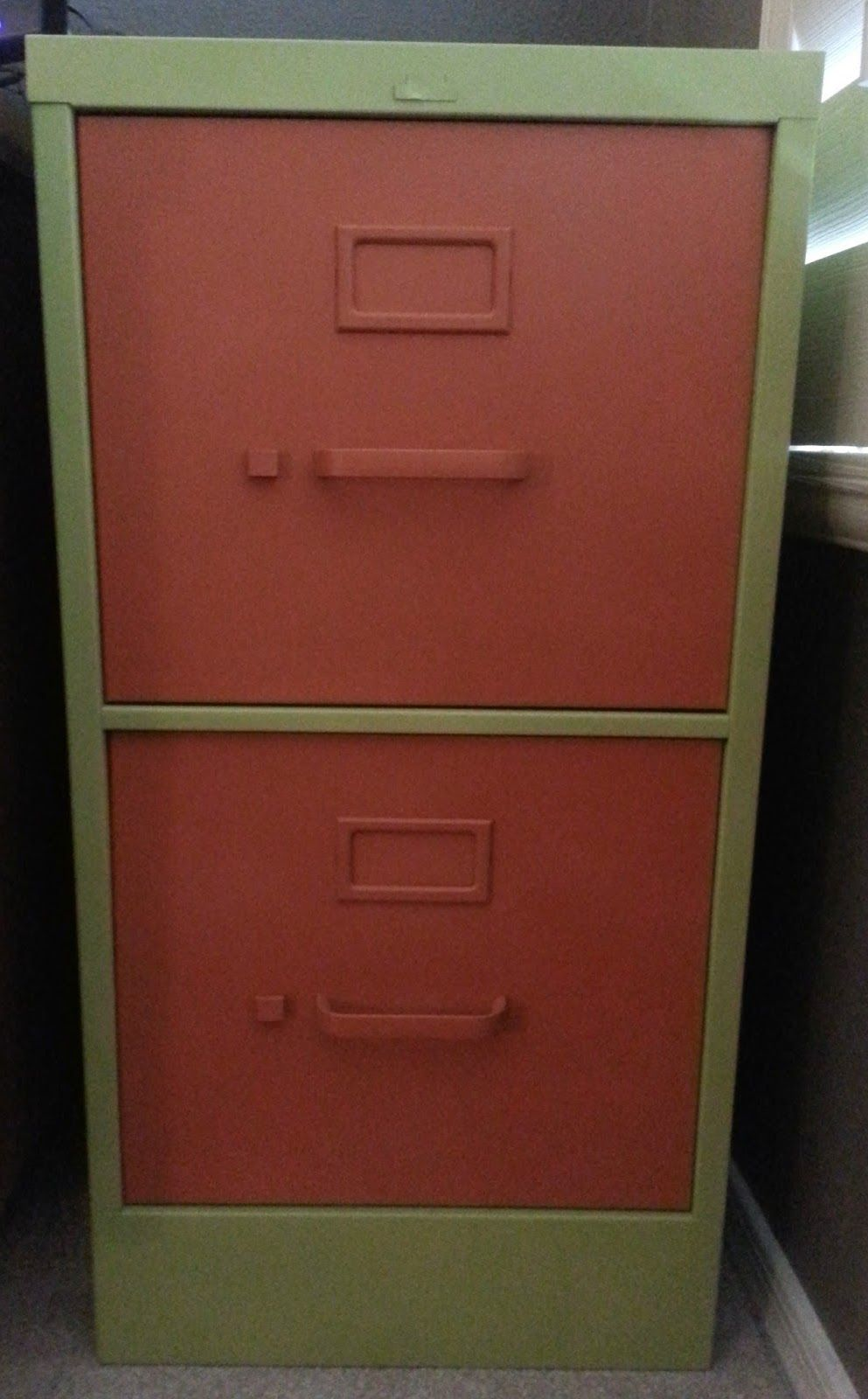 The After Picture Of My Spray Painted Filing Cabinet