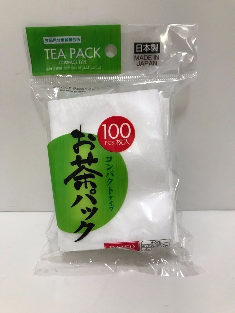 DAISO JAPAN Tea Bag 100 pack filter Compact type LIMITED PRICE F/S ...
