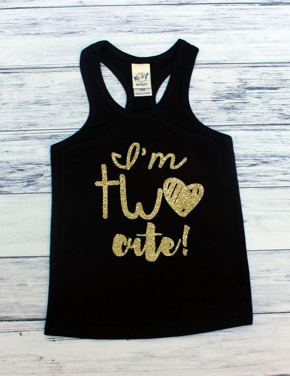 8668ab839074 I'm TWO Cute - TWO Cute - 2nd Birthday - Two - Racerback Tank Top ...