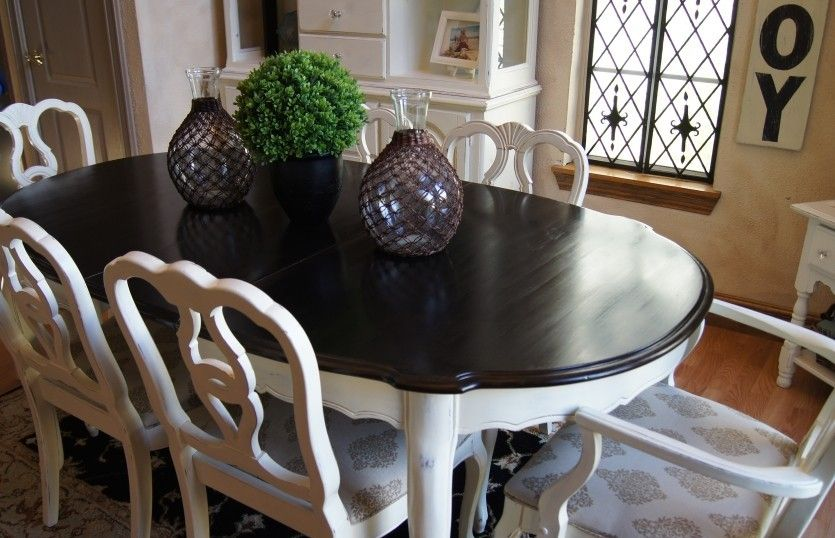Dining Table How To Paint Wood Furniture Without Sanding Jpg 835