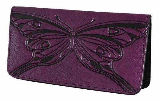 Wallet checkbook holder Del Arte purple.
