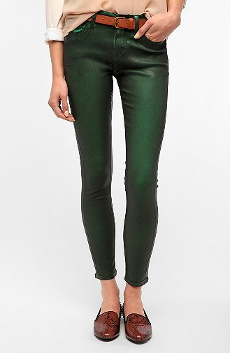 Ahhh - love these coated jeans
