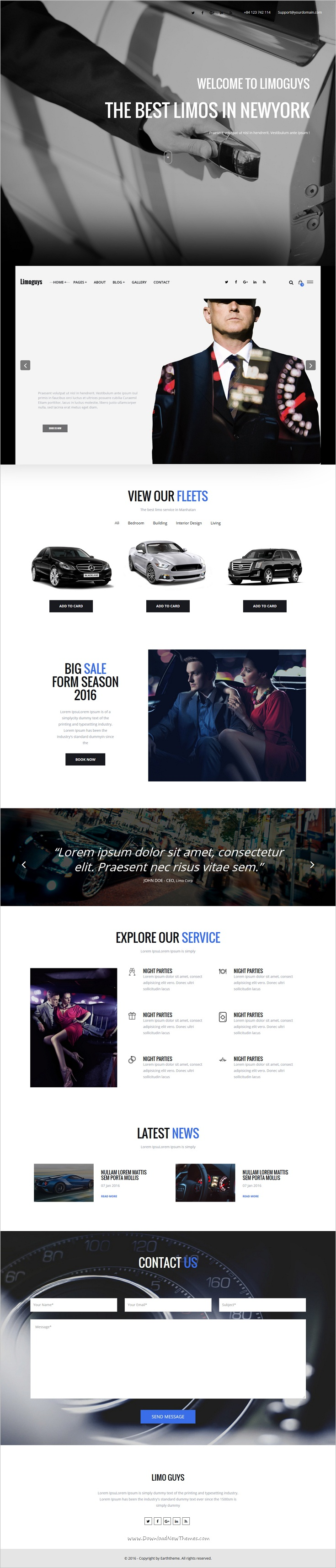 Limoguys creative html template for car rental and limo service