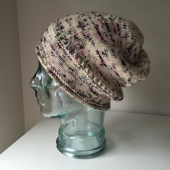 Slouchy Hand Painted Merino Rivulet Toque in by KnittinInKits