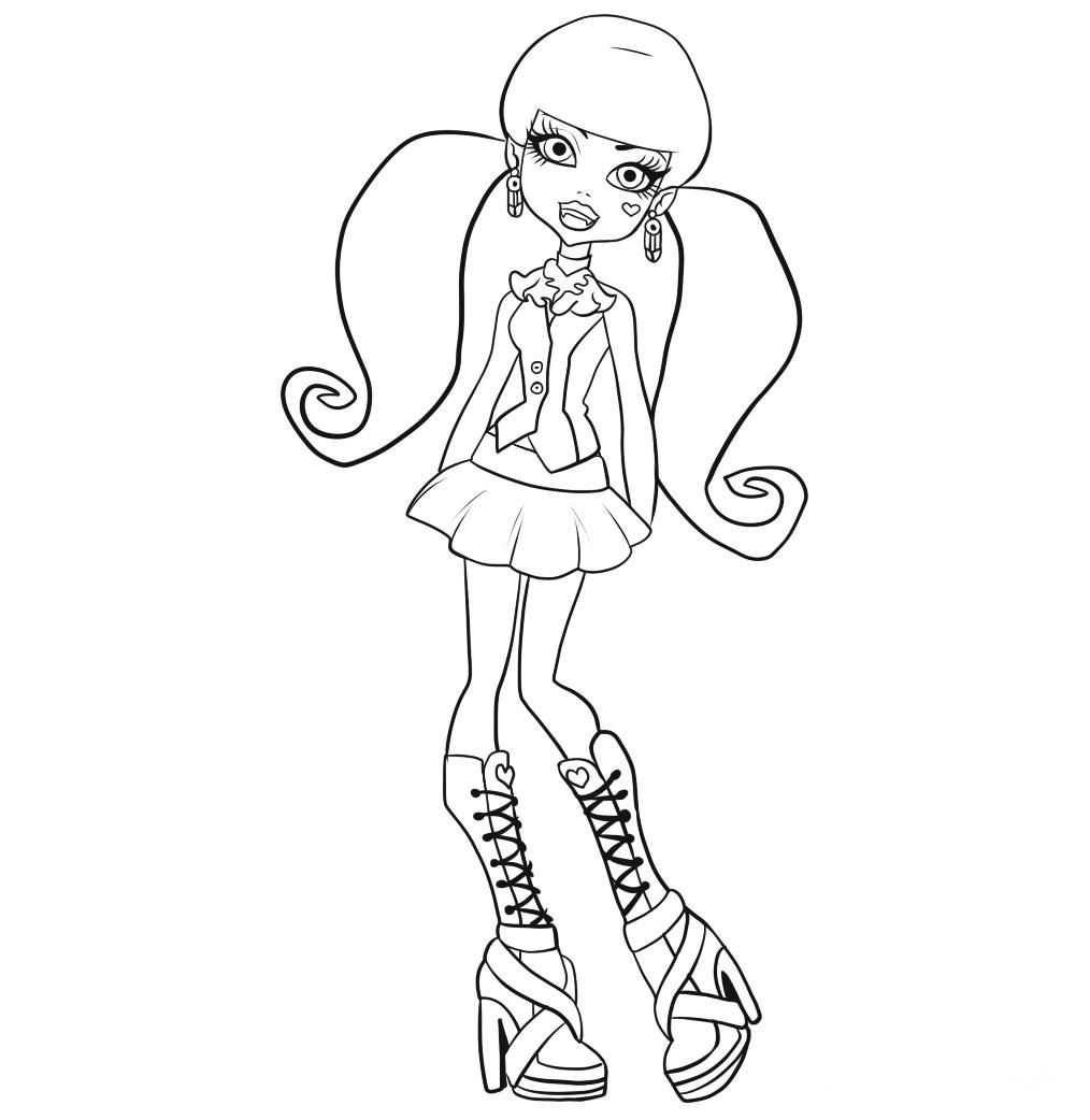 Monster High Printable Monster High Coloring Pages To Print