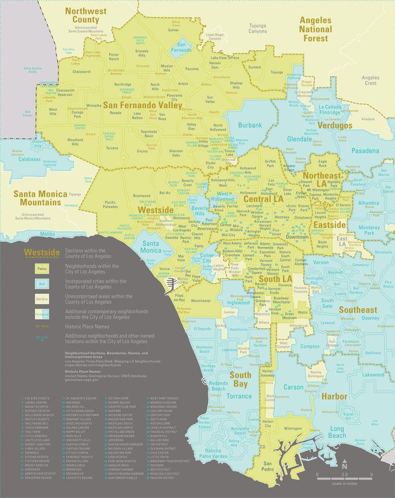 A Brief History Of Los Angeles Neighborhood Naming Los Angeles Neighborhoods Los Angeles Area Los Angeles