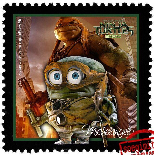 Teenage mutant ninja turtles michelangelo minions les mignions - Mechant tortues ninja ...