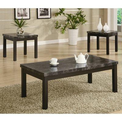 Wildon Home Bingham 3 Piece Coffee Table Set Wayfair Furniture