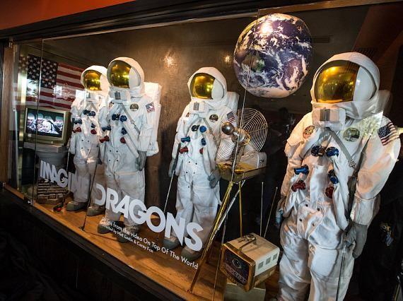 Imagine Dragons at Hard Rock Hotel & Casino Las Vegas for Memorabilia Case Unveiling