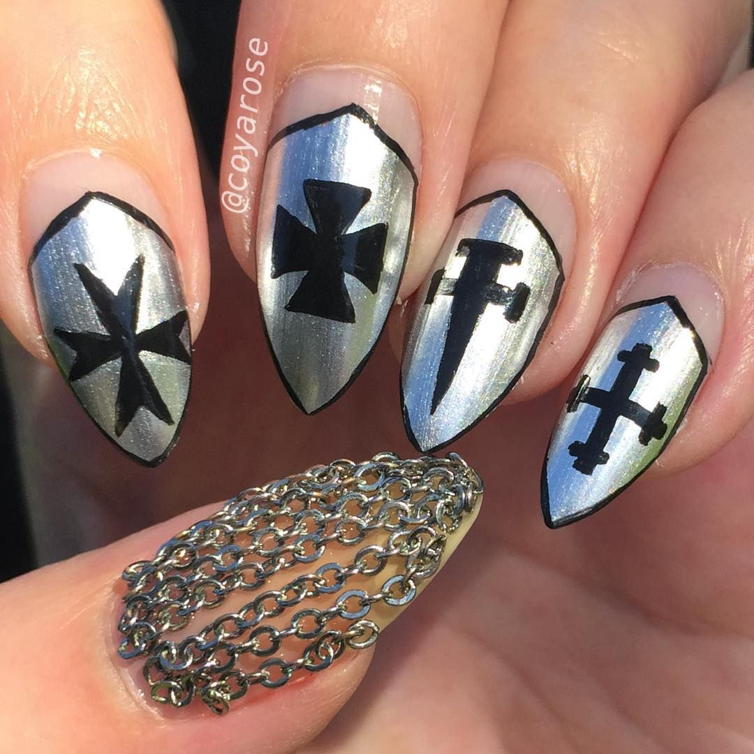 Medieval Heraldry Armor Chainmail Nails Nail Art Nails Pinterest