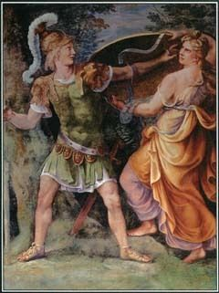 Guilio Romano painted this fresco called Thetis Delivering Arms to Achilles in the early 1500s. Thetis, Achilles