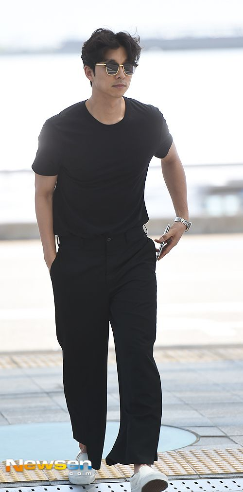 Gong Yoo at airport on his way to Cannes | Gong Yoo | Pinterest | Gong yoo and Cannes
